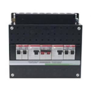ABB 4x achter 2x30mA+HS, 1-f Installatiekast 220x165