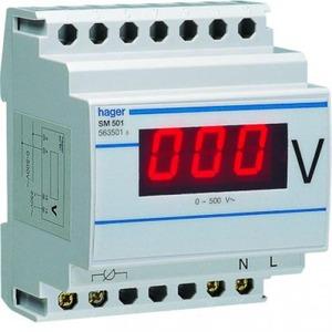 Hager Voltmeter digitaal 0-500V