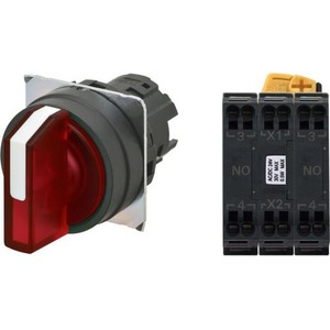 Omron SELECTOR A22NW Ø22, 3 POSITION, LIGHTED, BEZEL PLASTIC, AUTO RESET ON