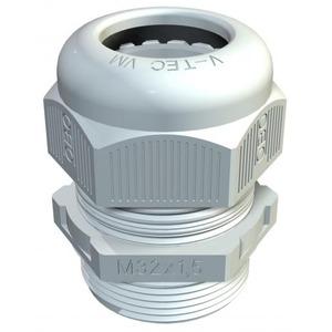 OBO Wartel met trekontlasting IP68 M12, PA, lichtgrijs, RAL 7035