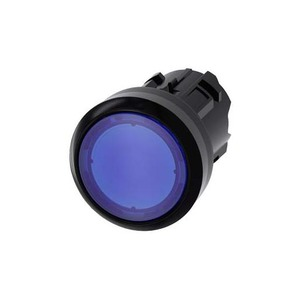 Siemens ILLUMINATED PUSHBUTTON 22MM ROUND PLASTIC BLUE