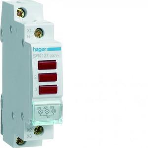 Hager LED signaalmodule 3x rood, 230 VAC