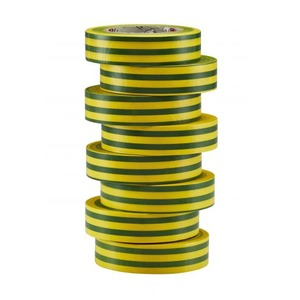 Bizline hoogwaardige vinyltape 15mmx10m groen/geel