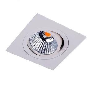 Newlec LED SPOT WIT VIERKANT 8,4W 3000K DRAAIBAAR, KANTELBAAR EN DIMBAAR