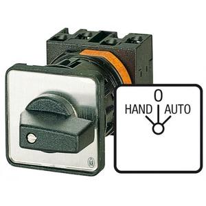 Eaton Omschakelaar, 2p, Ie=12A, FS HAND-0-AUTO, 45°, vast, 48x48mm, inbouw