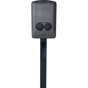 Smartcharger RVS PAAL 1900 MM MET BUIGB FLAPPEN IN DE GROND
