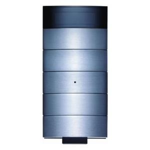 Berker IR-tastsensor 5-voudig met kamerthermostaat en display roestvrij edelstaal B.IQ