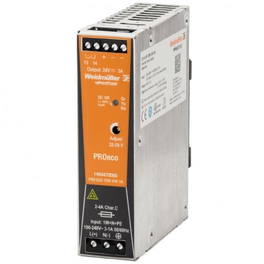 Weidmuller Pro eco 72w 24v 3a