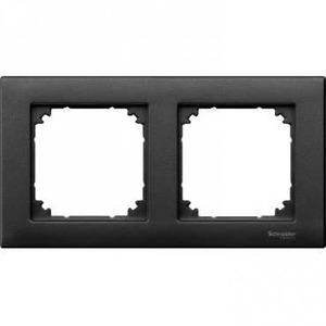 Merten M-PLAN Afdekraam 2V Antraciet IP20 MTN486214