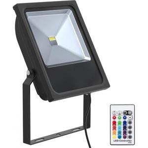 Bailey LED FLOODLIGHT BLACK 50W RGBW+REMOTE