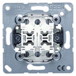 Jung Multipulsdrukker 2-voudig 10 A 250 V ~, gedeelde wip
