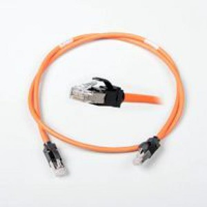 NCS LANMARK-6A ULTIM PATCH CORD CAT 6A SCREENED LSZH 1M ORANGE