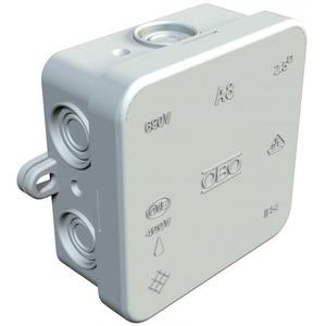 OBO Kabeldoos 2,5mm2 660V, IP54 75x75x36, PE, lichtgrijs, RAL 7035