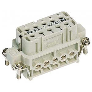 Harting 421 contactblok industriële connector 10 09200102812