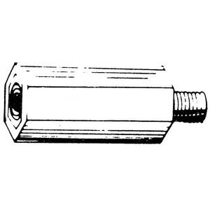 Dijkman 6s-15 afstandsteun m6x 15mm