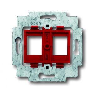 ABB Busch-Jaeger AXCENT, Alpha exclusive, Alpha nea bodemplaat schakelmateriaal 2-voudig Rood 1753-0-8055