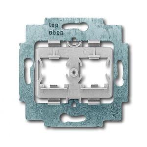 ABB Busch-Jaeger AXCENT, Alpha exclusive, Alpha nea bodemplaat schakelmateriaal 2-voudig Grijs 1753-0-8057