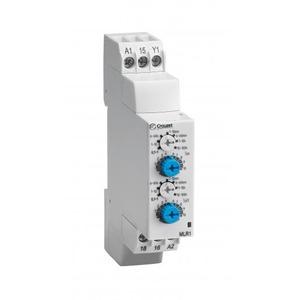 Crouzet TIJDRELAIS DIN-RAIL 17,5mm 1 OMSCH.RELAIS 8A 0-30VDC/20-264VAC FUNCTIE LI/L