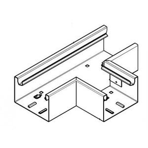 Hager Tehalit BRS T-stuk plaatstaal voor kanaal 65x100 mm crèmewit