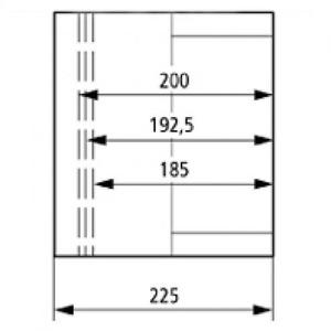 Eaton Kast, CI, HxBxD=250x375x225mm, deksel transparant, gladde zijden