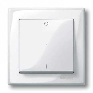 Merten Systeem M bedieningselement Aan-/uit-schakelaar Enkele wip Wit MTN432219