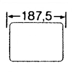 Eaton Flens, gesloten, HxBxD=116x187.5x23mm