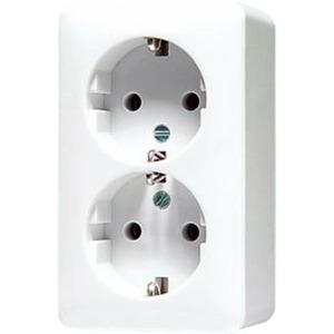 Jung AP600 wandcontactdoos RA 2V Cremewit/elektrowit 6022A