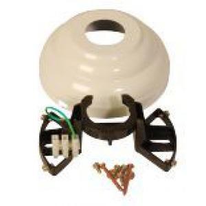 Itho Daalderop Montageset voor RF-set PVD126 beugel en afdekkap zwart