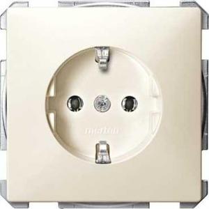 Merten ARTEC/ANTIEK wandcontactdoos RA 1V Cremewit/elektrowit MTN2301-4044