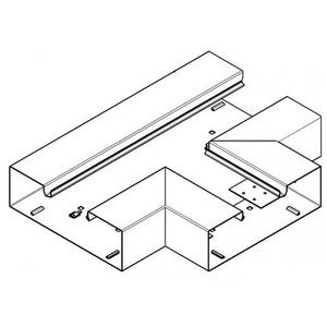 Hager BRS, T-stuk plaatstaal voor kanaal 65x210 mm, crèmewit