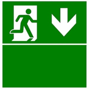 Eaton Blessing BL ISO Perspexplaat t.b.v. Evoled S, pijl beneden+groen vlak