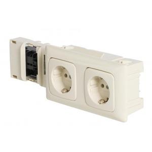ABB CLIXYS wandcontactdoos RA 2V Cremewit/elektrowit 1SPA007143F0110