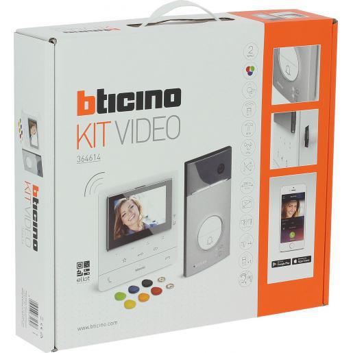 Bticino Deurcommunicatie-videokit met 1 drukknop linea 3000+classe100x16e