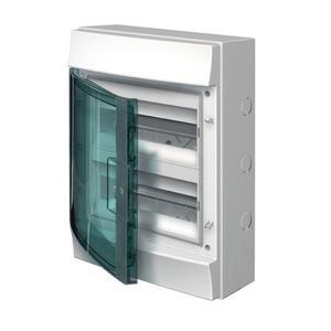 ABB Verdeelkast opbouw, 24mod, transp.deur, GWT750, IP65, RAL7035, Mistral