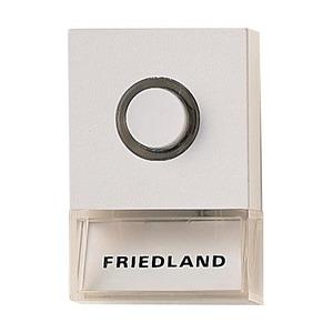 Friedland Beldrukker verl./naam opbouw wit 60x40x19mm-Pushlite