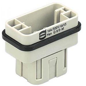 Harting 408 contactblok industriële connector 8 09120083001