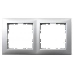 Berker S.1 Afdekraam 2V Aluminium IP20 10129939