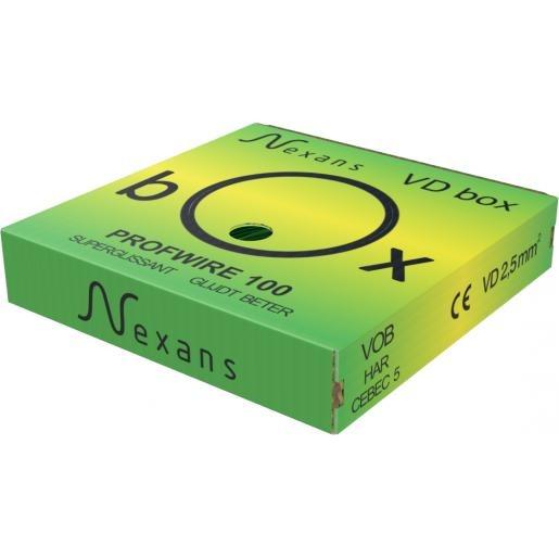 Nexans PROFWIRE VD Box H07V-U installatiedraad 2,5mm² groen/geel