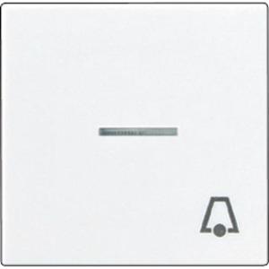 Jung A range bedieningselement Aan-/uit-schakelaar Enkele drukker Wit A590KO5LWW