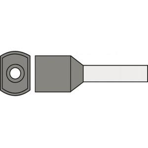 Klemko adereindhuls 4mm² 12mm Geïsoleerd Grijs 727545