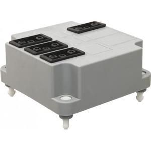 ABB Conn.deksel 4x3p grijs+aansluitdr