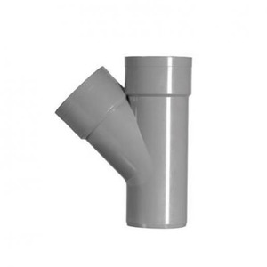 Martens PVC T-STUK 45GR. GRIJS 2X MOFXSPIE 32MM