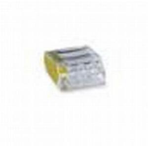 Wago Lasklem 4x 1-2,5mm2 transp./geel