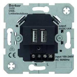 Berker Usb-oplaadcontactdoos 230 v huiselektron ica antraciet mat