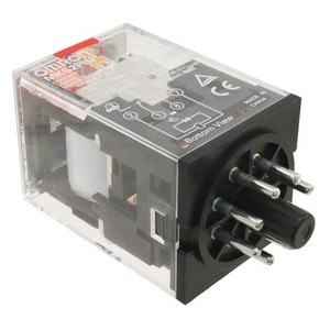 Omron Omron universeel relais MK-S, 2 wisselcontacten, 110 VAC / 10 A, 2 pol
