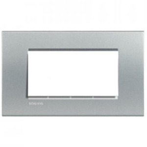Bticino Livinglight Afdekraam 1V Aluminium IP20 BTLNA4804TE