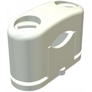 OBO SOM-zadel met kunststofschr. 6-17mm, PS, lichtgrijs, RAL 7035