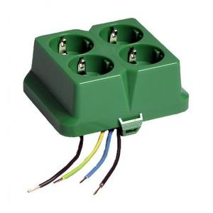 Attema AK2-C4 Deksel met geïntegreerde viervoudige contactdoos groen