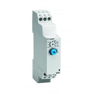 Crouzet TIJDRELAIS DIN-RAIL 17,5mm 1 OMSCH.RELAIS 8A 20-30VDC/20-264VAC FUNCTIE A/AT