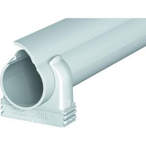 OBO Buiskanaal Quick-Pipe-Set sluitbaar, 30m+96 zadels M25, PVC, lichtgr